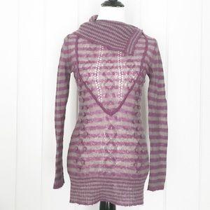 Peppe Peluso Asymmetrical Neckline Striped Sweater